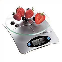 Digital kitchen scales of a mordern design Weighs up to 5kg - metric and imperial Auto zero and shut - CLICK FOR MORE INFORMATION