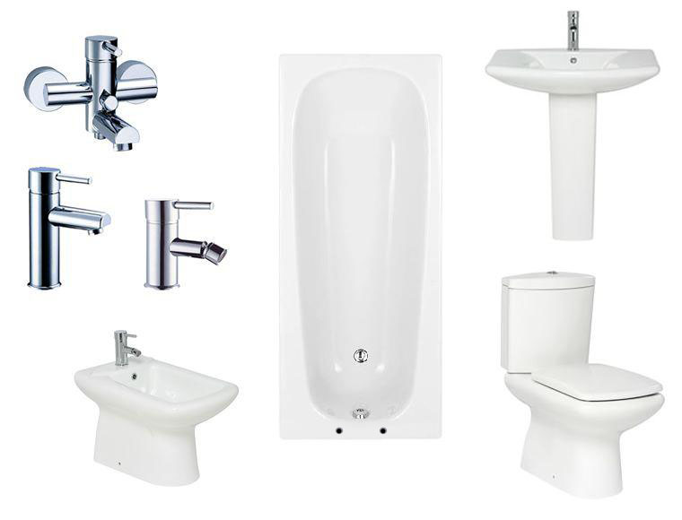 Unbranded Artis Suite Package A-s (basin wc steel bath taps bidet)