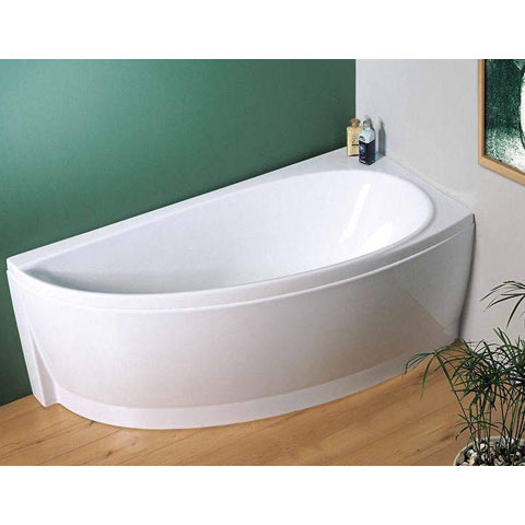 Corner Bath : Avocado Designer Offset Corner Bath with Support - review, compare ...