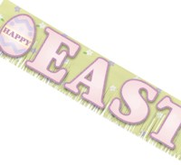Banner: Happy Easter Fringed