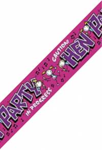 Banner - Hen Party 9ft