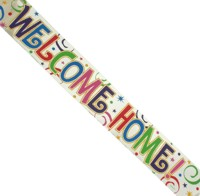 Banner: Welcome Home Metallic 12ft