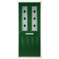 Barrington Double Glazed GRP Front Door Frame Set Green Other Product