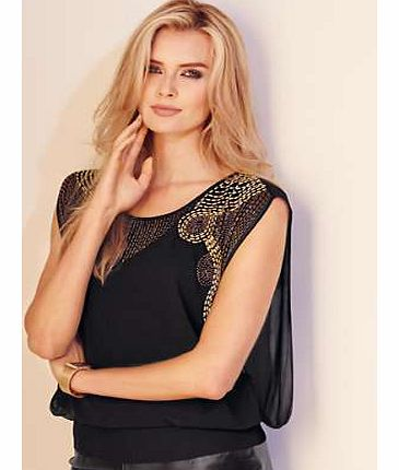 Unbranded Bead Layered Top