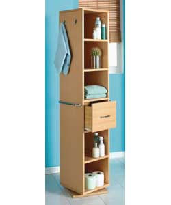 Bathroom Stores on Beech Revolving Bathroom Storage Unit Bathroom Cabinet   Review
