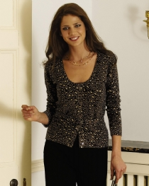 Belted Leopard Print Cardigan