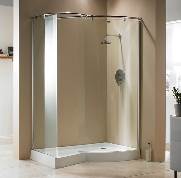Carlyle walk in shower enclosure with tray bathroom