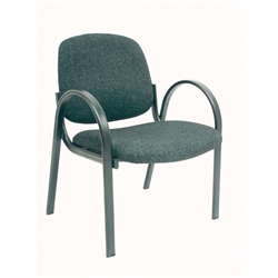 Charcoal Futura Reception Range Arm Chair.