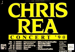 CHRIS REA Concert Tour 1990 Music Poster 84x59cm