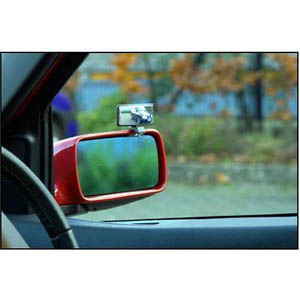 Clip-On Blind Spot Mirror This mirror has a microporous nickel-plated surface for maximum corrosion