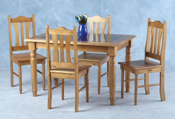 Clover Glass Top Dining Set