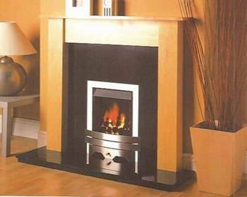 Contemporary slimline coal gas fire fires fireplace for Modern gas fireplace price