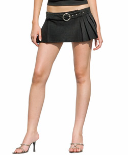 Corduroy Pleated Mini Skirt Black 12 product image
