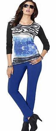 Unbranded Creation L Abstract Print Top