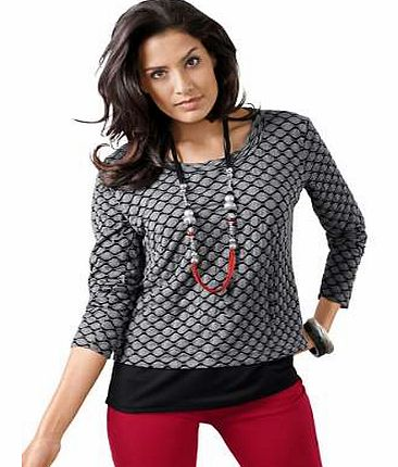 Unbranded Creation L All-Over Print Layered Top