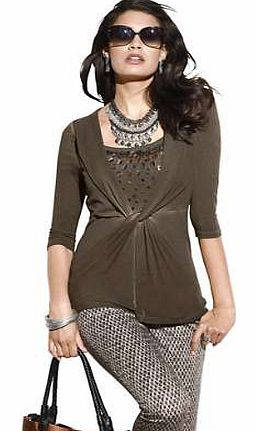 Unbranded Creation L Embellished Detailed Top