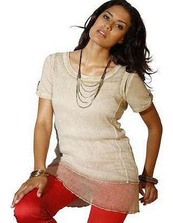 Unbranded Creation L Silk Double Layer Top