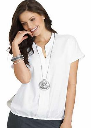 Unbranded Creation L Stretch Hem Collared Top