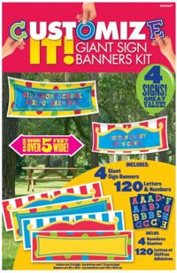 Unbranded Customize It - Value Giant Banner Kit