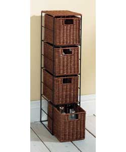 Http Www Comparestoreprices Co Uk Bathroom Cabinets Unbranded Dark Rattan Slimline Storage Asp