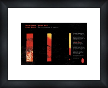 DAVID SYLVIAN Ember Glance - Custom Framed Original Ad 34x28cm 23mm black wood frame with white mat