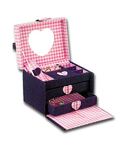 Denim and Gingham Jewellery Box