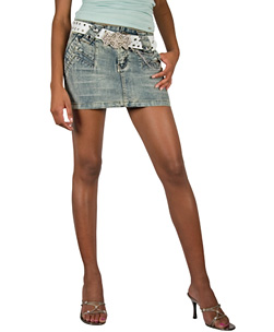 Denim Mini with Butterfly Belt Size 10 product image