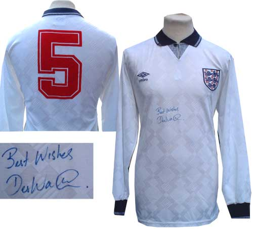 Unbranded Des Walker and#8211; Signed match worn England shirt