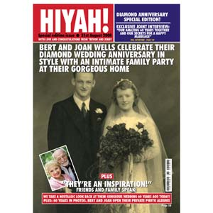Unbranded Diamond Anniversary Personalised Magazine Cover