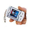 Digital Photo Keyring  In Silver/White with product image