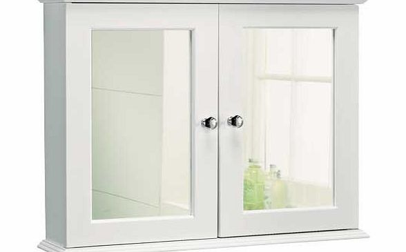 Double Door Mirrored Bathroom Cabinet White Review Compare Prices Buy Online