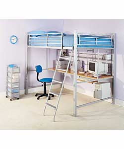 Double High Sleeper With Work Station And Firm Mattress