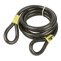 Vinyl coated braided steel cable. 12mm thick