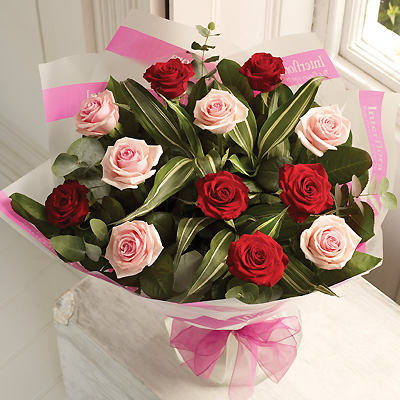 A dozen Mixed Rose bouquet is a classic gift choice, ideal for many occasions from birthdays and ann