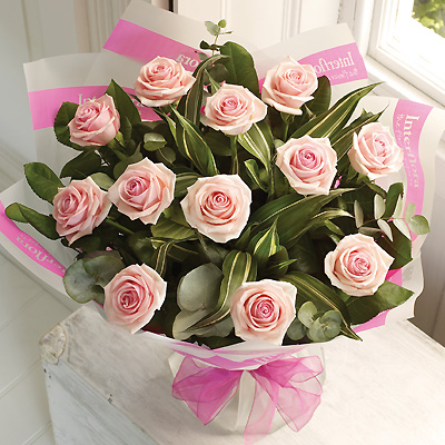 A dozen Pink Rose bouquet is a classic gift choice, ideal for many occasions from birthdays and anni