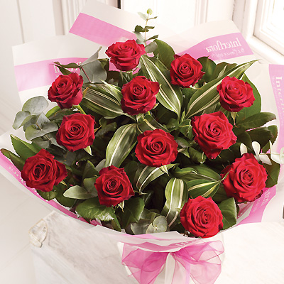 A dozen Red Rose bouquet is a classic gift choice and is the perfect romantic statement.