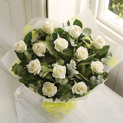 A dozen White Rose bouquet is a classic gift choice, ideal for many occasions from birthdays and ann