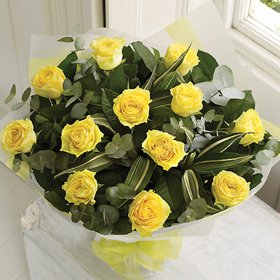 A dozen Yellow Rose bouquet is a classic gift choice, ideal for many occasions from birthdays and an