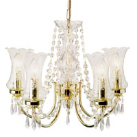 Height: 900mm Width: 450mm, Requires max 5 x 60w Candle BC bulb, Bead dressed fitting, suitable for