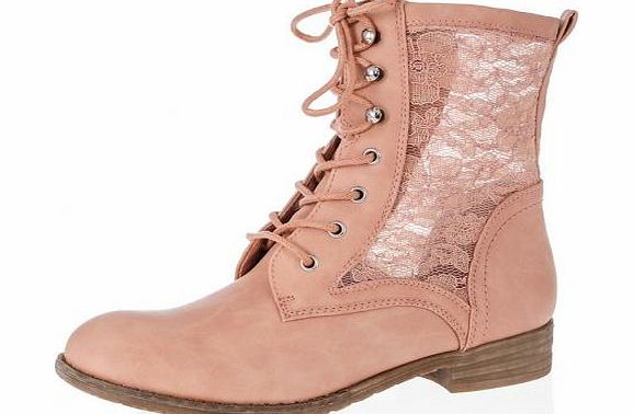 Give a feminine flair to your wardrobe with these lace design tie up boots. Wear with skinny jeans and a fuzzy knit or try with a skater skirt and waterfall cardigan. - Lace design - Tie up style - Block heel - Upper: Other, Lining: Other, Sole: Othe