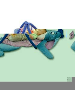 The Eeyore play mat offers baby a comfortable lying position.The brightly coloured characters are