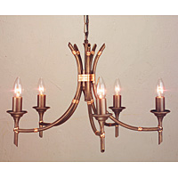 Unbranded ELBB5/BRZ - 5 Light Bronze Patina Hanging Light