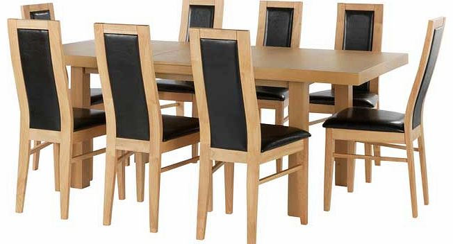 black dining table and 4 chairs : unbranded ella extendable dining table and 8 warwick black from www.comparestoreprices.co.uk size 652 x 352 jpeg 34kB