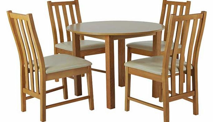 Elton Oak Circular Dining Table and 4 Cream Chairs  : unbranded elton oak circular dining table and 4 cream chairs from www.comparestoreprices.co.uk size 682 x 393 jpeg 44kB