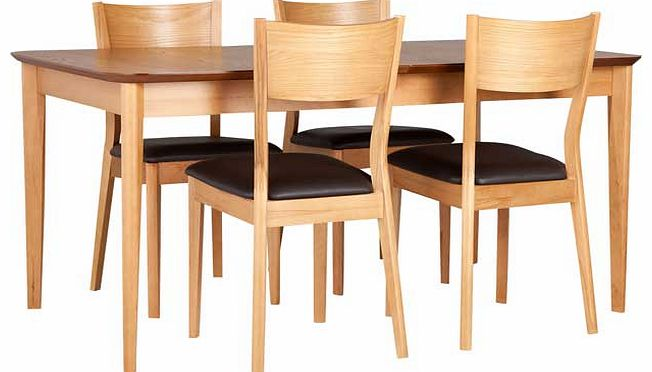 hair extensions : unbranded emmett oak dining table and 4 wooden chairs from www.comparestoreprices.co.uk size 652 x 372 jpeg 33kB
