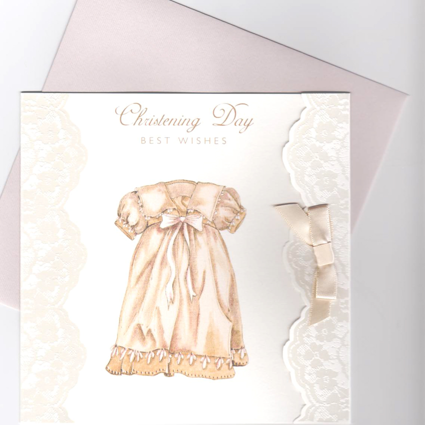 Enchanting Vintage Christening Day Card product image