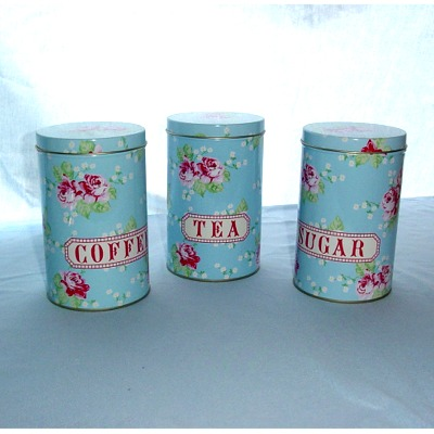 English Rose Tea Coffee Sugar Canisters Kitchen Accessorie Review Compare Prices Buy Online