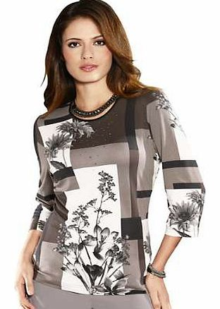 Unbranded Fair Lady Abstract Floral Print Top