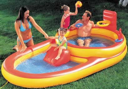 Family play paddling pool outdoor toy review compare for Family paddling pool