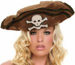Unbranded Fancy Dress - Buccaneer Felt Skull and Crossbones Hat